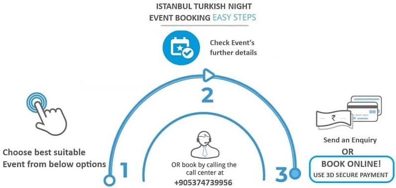 istanbul turkish night bookings step